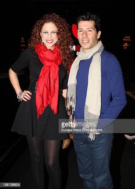 Pastora Soler and Francis Vinolo attend the presentation of flamenco collection by Vicky Martin Berrocal during the SIMOF 2012 on February 2 2012 in...