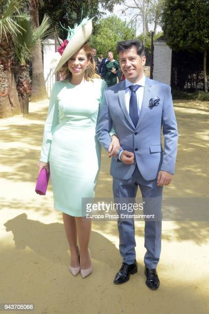 Pastora Soler and Francis Vinolo attend the wedding of Jose Carlos Fernandez and Manuel Cabello on April 7 2018 in Seville Spain