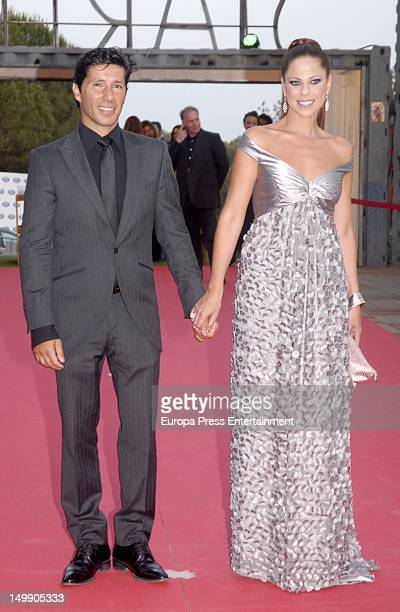 Pastora Soler and her husband Francis Vinolo attend the Starlite Charity Gala 2012 at Villa Padierna Hotel on August 4 2012 in Marbella Spain