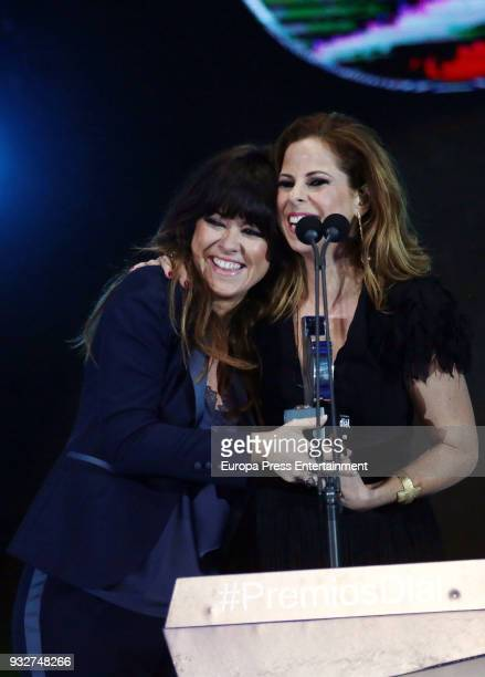 Pastora Soler and Vanesa Martin during the 'Cadena Dial' Awards gala 2018 on March 15 2018 in Tenerife Spain