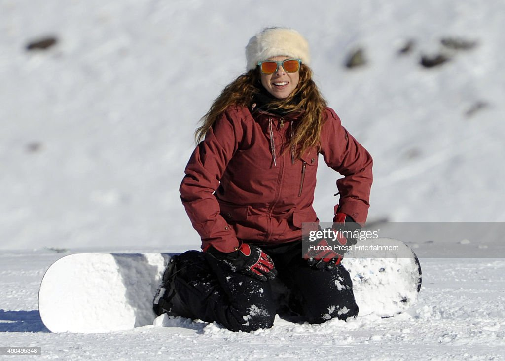 Pastora Soler Sighting In Baqueira - December 13, 2014