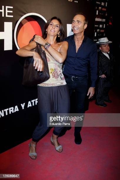 Pastora Vega and Francis Vinolo attends The Hole premiere photocall at Haagen Dasz theatre on September 15 2011 in Madrid Spain