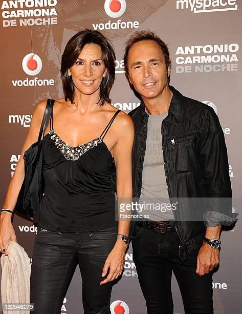 Pastora Vega and Juan Ribo attend Antonio Carmona concert at Joy Eslava on July 12 2011 in Madrid Spain