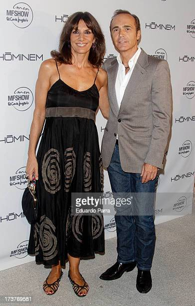 Pastora Vega and Juan Ribo attends Hominem new collection presentation photocall at Conde Duque space on July 17, 2013 in Madrid, Spain.