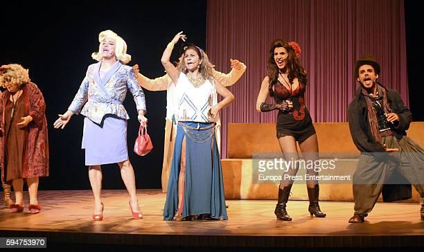 Pastora Vega and Lolita attend the presentation of 'La asamblea de las mujeres' at La Latina theatre on August 23 2016 in Madrid Spain