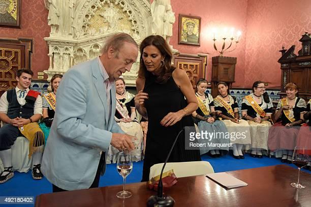 Pastora Vega attends the '54th Fiesta de la Vendimia' at the Palau Maricel on October 10 2015 in Sitges Spain