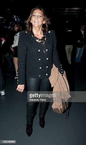 Pastora Vega attends the Francis Montesinos fashion show during the Cibeles Madrid Fashion Week A/W 2011 at Ifema on February 19 2011 in Madrid Spain