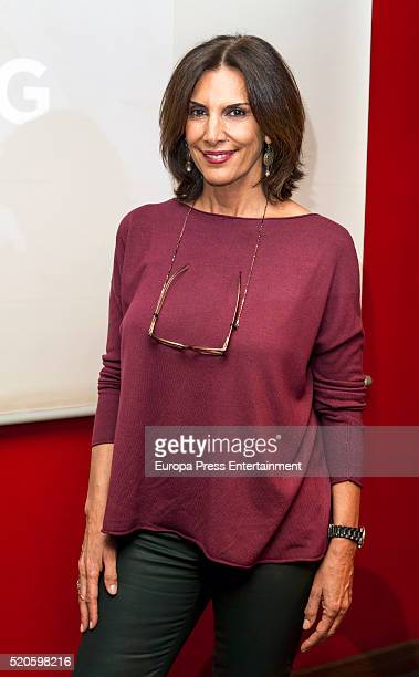 Pastora Vega attends the presentation of 'Tapping Para Todos' book written by Cipriano Toledo at Fnac on April 11 2016 in Madrid Spain