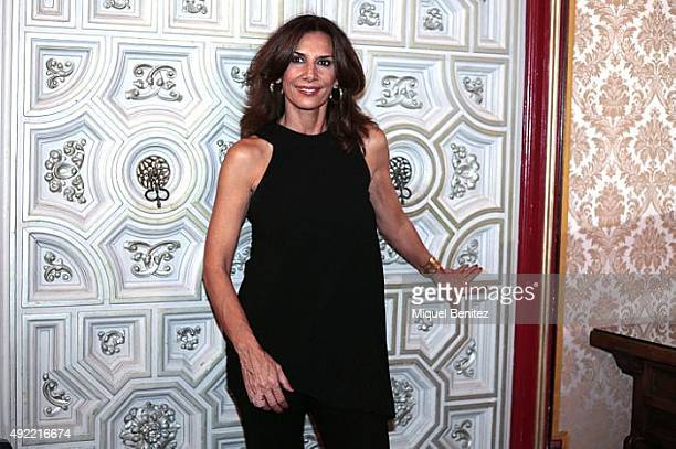 Pastora Vega attends the Wine Harvest Annoucement at hte Palau Maricel of Sitges on October 10 2015 in Sitges Spain