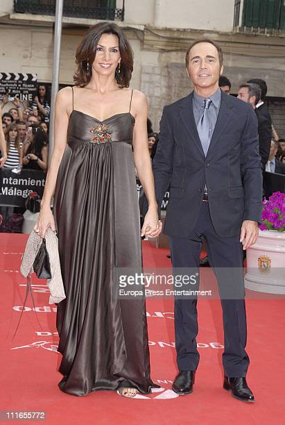 Pastora Vega dressed by Armand Bassi and Juan Ribo attend the 14th Malaga Film Festival closing ceremony at Cervantes Theatre on April 3, 2011 in...