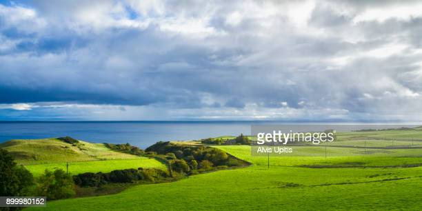 Pastoral scene along Moray Firth near Brora, Scotland