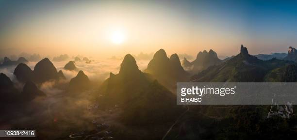 pastoral scenery in guilin,china - south china stock pictures, royalty-free photos & images