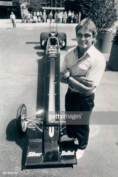Pastorini Dan Former Football Player Dan Pastorini with his Silver Bullet Dragster in front of the Coors brewery He will be racing this weekend at...