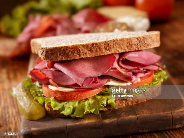 pastrami sandwich - delicatessen stock pictures, royalty-free photos & images