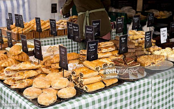 Pastries on a baker's stall