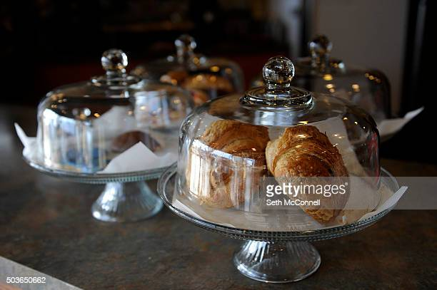 Pastries sit on the counter at 40 Weight Coffee in Arvada Colorado on December 30 2015 40 Weight Coffee serves handcrafted espresso drinks and tea