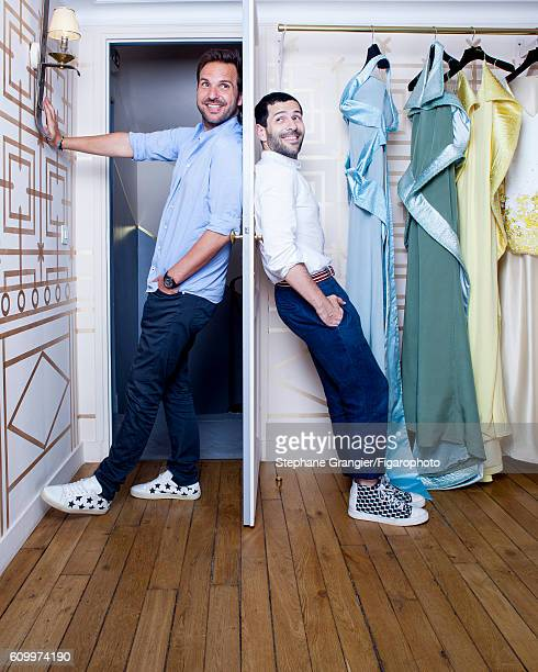 Pastry chef Christophe Michalak and designer Alexis Mabille are photographed for Madame Figaro on July 12, 2016 in Paris, France. PUBLISHED IMAGE....