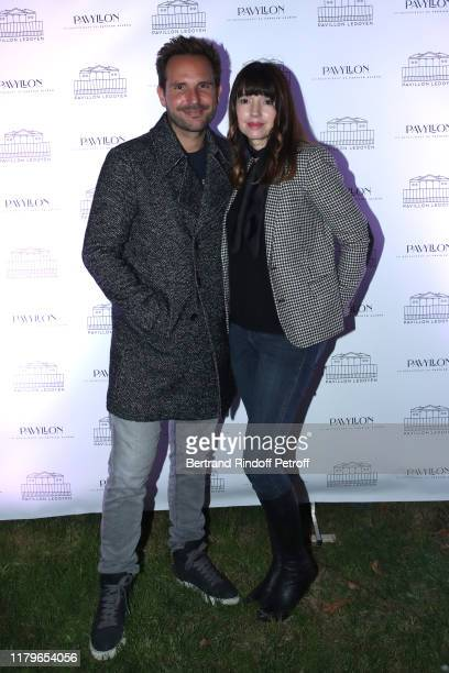 Pastry Chef Christophe Michalak and his wife Delphine McCarty attend the Inauguration evening of PavYllon a restaurant by Yannick Alleno at Pavillon...