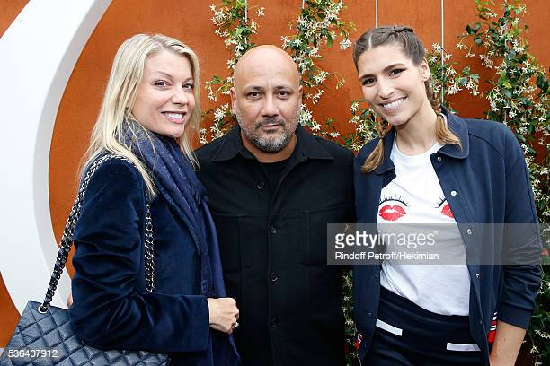 Pastry Chef Claire Verneil Chef Frederic Anton and Journalist Laury Thilleman attend Day Eleven of the 2016 French Tennis Open at Roland Garros on...