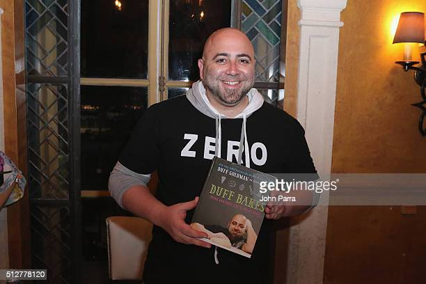 Pastry chef Duff Goldman attends the Sweet 15 A Dessert Party Hosted By Duff Goldman during 2016 Food Network Cooking Channel South Beach Wine Food...