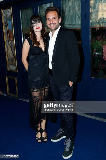 Pastry Chef of Laperouse Christophe Michalak and his wife Delphine McCarty attend the Laperouse Mask Ball on the occasion of the inauguration evening...