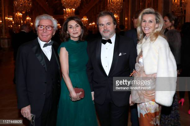 Pastry Chef Pierre Herme and his wife standing between Jean-Daniel Lorieux and his companion Laura Restelli-Brizard attend the 19th Gala Evening of...