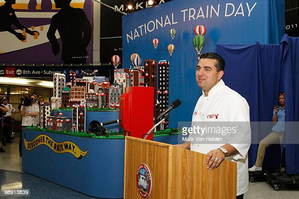 Pastry Chef/ TV personality Buddy Valastro kicksoff National Train Day festivities at NYC's Penn Station unveiling a large 'trainscape' designed by...