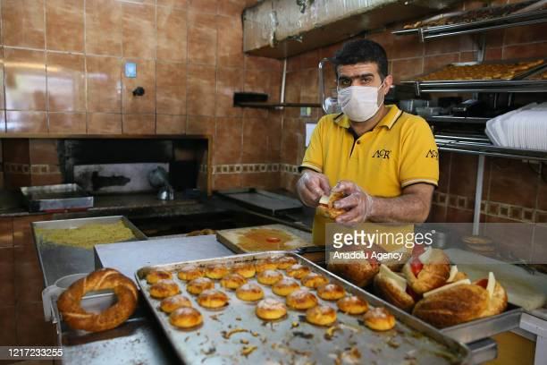 Pastry maker Burhan Polat is seen at work on the third day of normalization process in Izmir, Turkey on June 02, 2020. Tradespeople immediately...