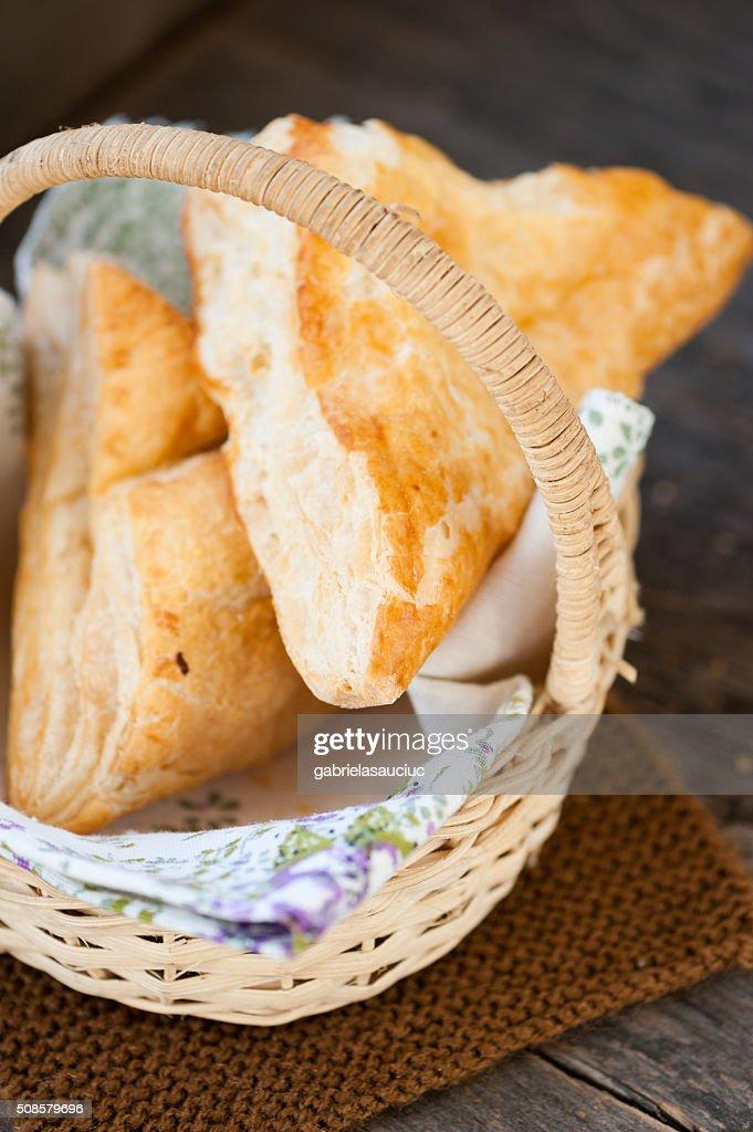 Gebäck mit Käse : Stock-Foto