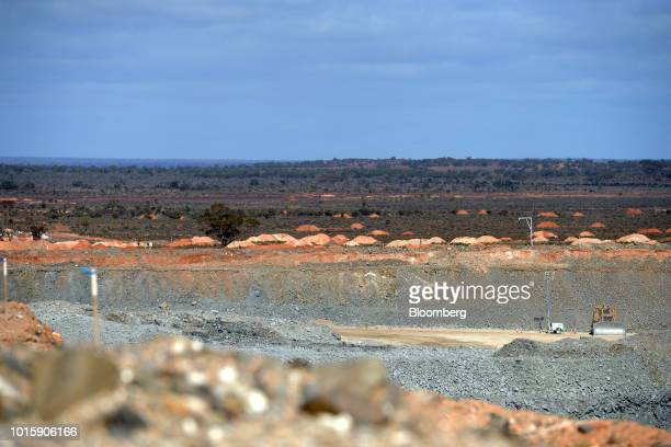 Pasture land stretches beyond the Bald Hill Lithium mine site one of Tawana's operations outside of Widgiemooltha Western Australia on Monday Aug 6...