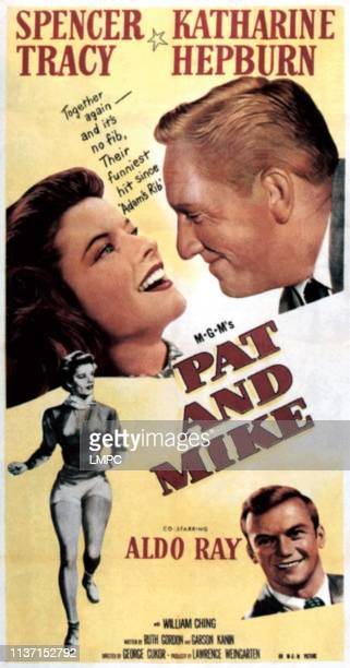 Pat And Mike poster Katharine Hepburn Spencer Tracy Aldo Ray 1952