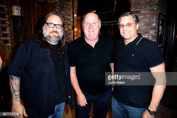 Pat Asanti Jim Rota and Kevin Mazur attend A Tribute To Rock Roll hosted by Schott NYC Featuring Photographs from Photographer Kevin Mazur at The...