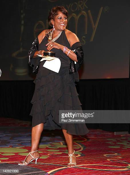 Pat Battle attends he 55th Annual New York Emmy Awards gala at the Marriott Marquis Times Square on April 1 2012 in New York City