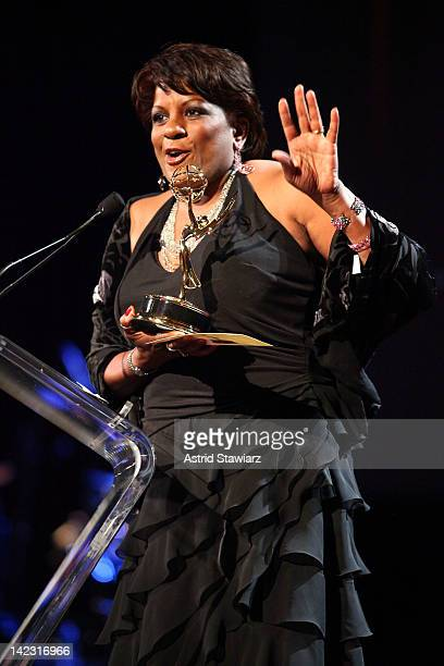 Pat Battle attends the 55th Annual New York Emmy Awards gala at the Marriott Marquis Times Square on April 1 2012 in New York City