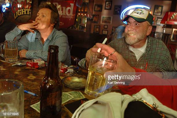 SMOKE ADAMS COUNTY CO Pat Bell left and Rick Soderberg right enjoyed a smoke Wedensday afternoon at Stein's Tavern 7069 Pecos Street Patrons of the...