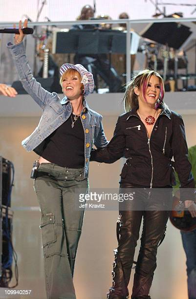 Pat Benatar and Lisa Marie Presley during VH1 Divas Duets A Concert to Benefit the VH1 Save the Music Foundation Show at MGM Grand in Las Vegas...