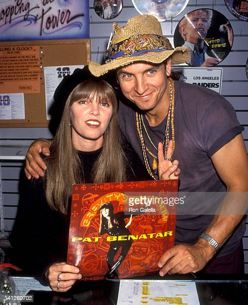 Pat Benatar and Neil Giraldo at the Pat Benatar Signs Copies of New AlbumGravity's Rainbow Tower Records West West Hollywood