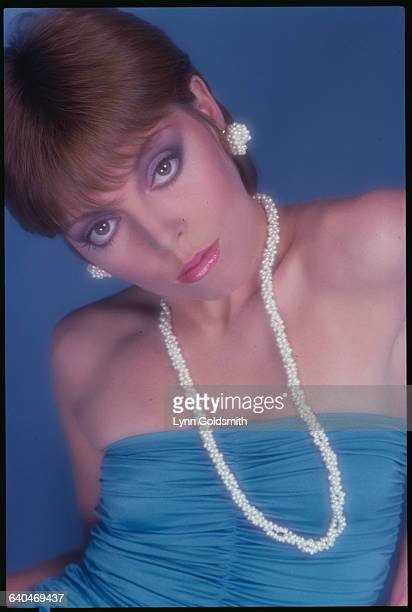Pat Benatar in Pearls and Blue Dress