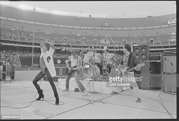 Pat Benatar Performing at Veterans Stadium