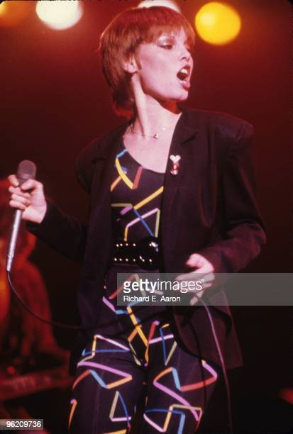 Pat Benatar performs live on stage in 1984