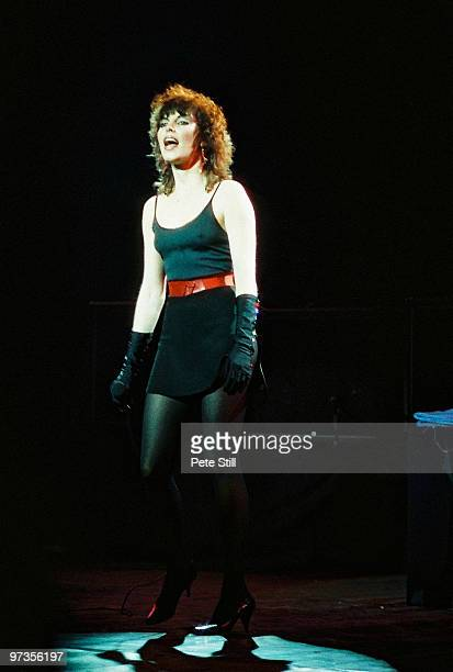 Pat Benatar performs on stage at Hammersmith Odeon on January 21st 1983 in London England