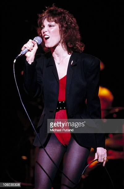 Pat Benatar performs on stage New York 1982