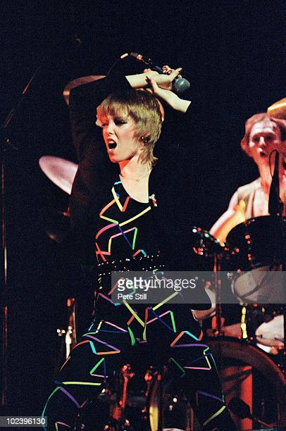 Pat Benatar performs on stage on the 'Crimes of Passion' tour at The Dominion Theatre on 18th October 1980 in London United Kingdom