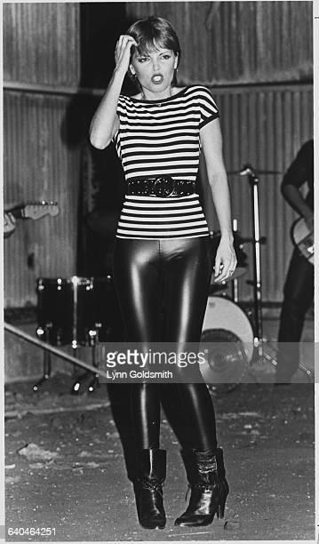 Pat Benatar Wearing 80's Outfit