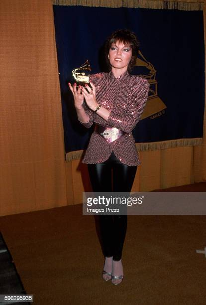 Pat Benatar with Grammy Award circa 1981 in New York City