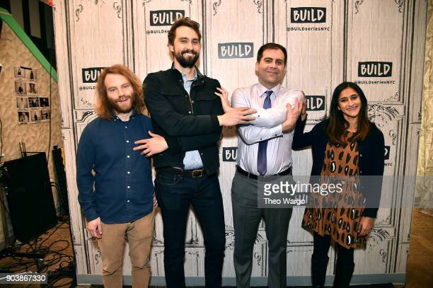 Pat Bishop Matt Ingebretson Jake Weisman and Aparna Nancherla attend Build Series to discuss the show 'Corporate' at Build Studio on January 11 2018...