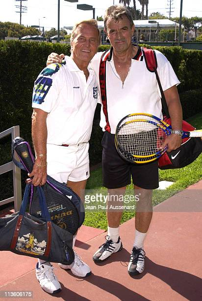 Pat Boone and Eric Braeden during 2nd Annual Merv Griffin Beverly Hills Country Club Celebrity Tennis Classic at Beverly Hills Country Club in Culver...