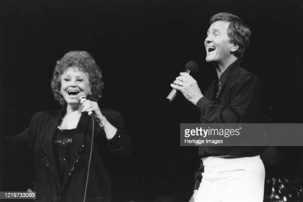 Pat Boone and Kay Starr, London Palladium, 1991. Artist Brian Foskett.