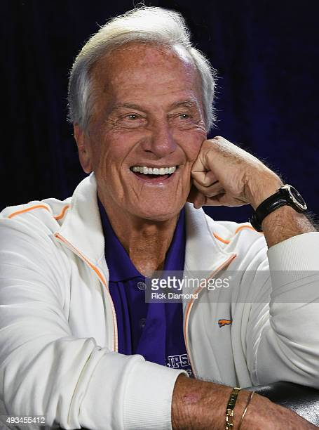 """Pat Boone photo Session during the Pat Boone """"R&B Duets Hits"""" Record Release Event at The Hot Seat on October 20, 2015 in Nashville, Tennessee."""