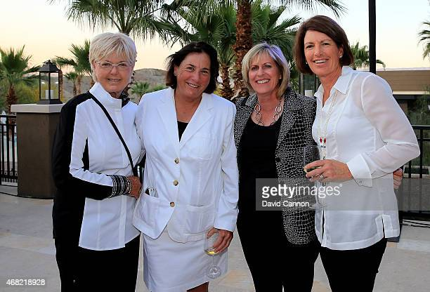 Pat Bradley Amy Alcott Betsy King and Juli Inkster at the ANA Inspiration Champions Dinner hosted by Rolex In honor of the thirtythree past champions...